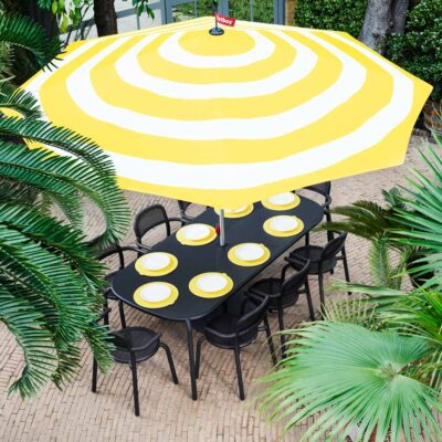Toni tablo rectangular outdoor table anthracite by Fatboy