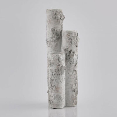 Vase cement trunk grey