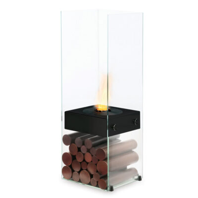 ecosmart fire ghost designer fireplace black