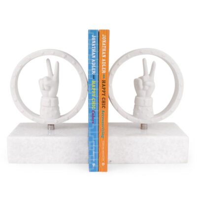 peace bookends Jonathan Adler
