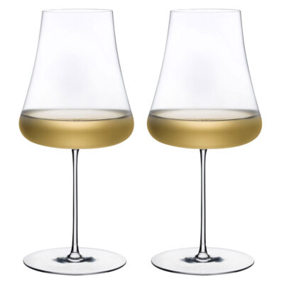 stem zero set of 2 white wine glasses by Nude