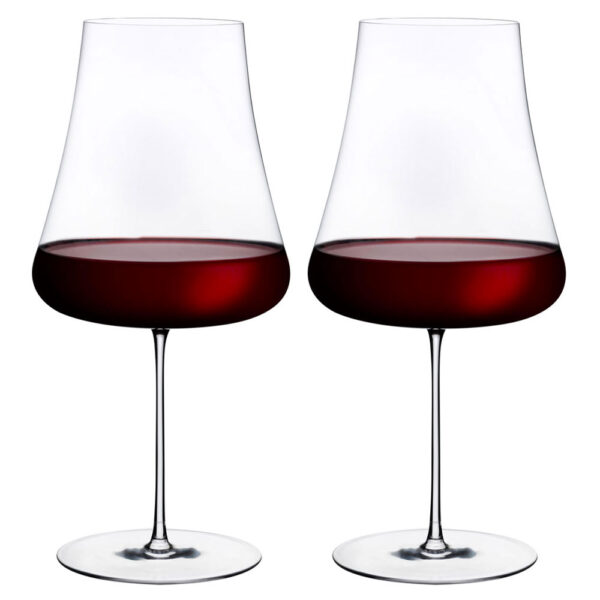 stem zero set of 2 red wine glasses by Nude