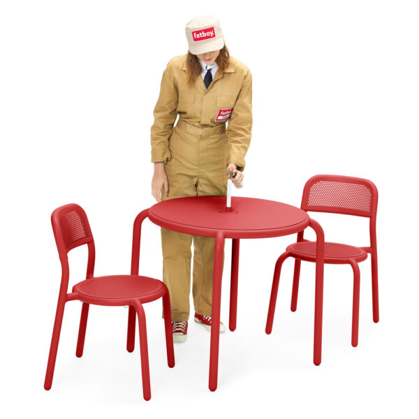 toni outdoor chair red 2pcs by Fatboy