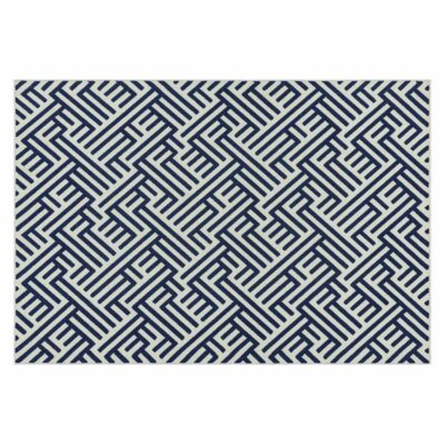 Antibes Blue White Linear rug by Asiatic Rug