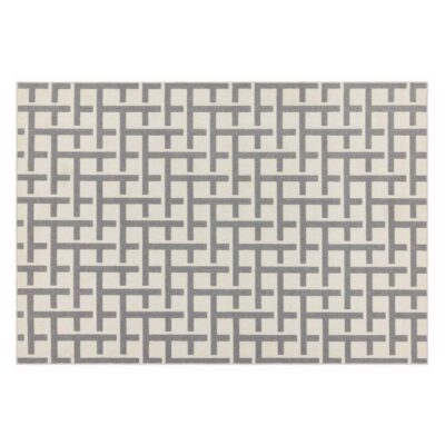 Antibes white grey grid by Asiatic Rug