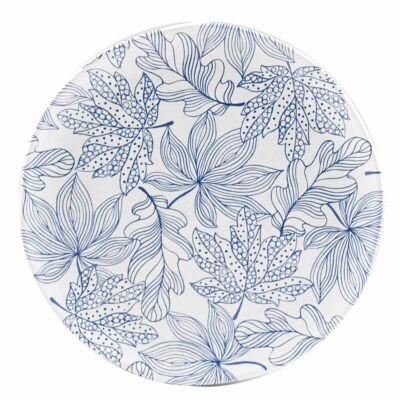 Blue Round Platter by Rose & Tulipani
