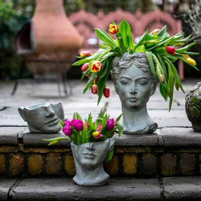 Concrete Head Vase
