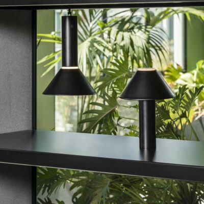 Fuji Black Portable Lamp by Faro Barcelona
