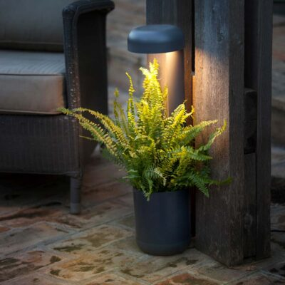 GROW LED Dark grey beacon by faro barcelona