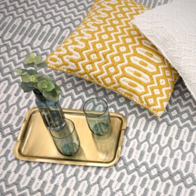 Halsey cushion Mustard by Asiatic Rug