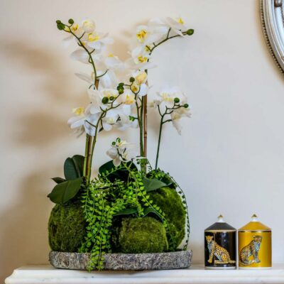 Luxury faux white orchids