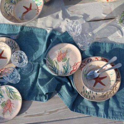 Sea life salad Plates by Rose & Tulipani