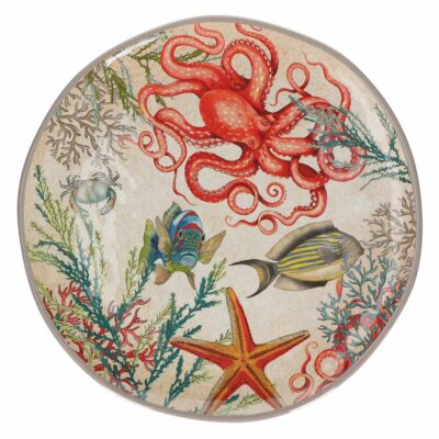 Sea life Round Platter by Rose & Tulipani