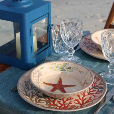 Sea life set 2 dinner plates by Rose & Tulipani