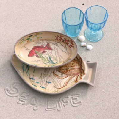 Sea life set 2 fish plates by Rose & Tulipani