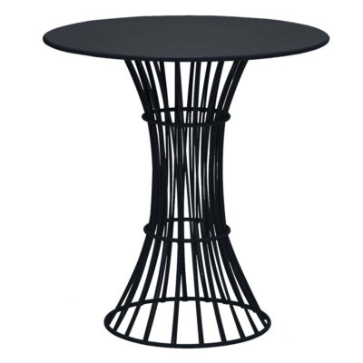Bolonia outdoor Dining table Black by Isimar