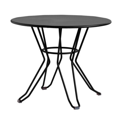 Capri low outdoor side table black by Isimar