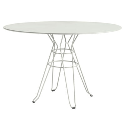 Capri outdoor round dining table white by Isimar