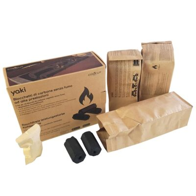 Coconut charcoal set of 3 by Cookut