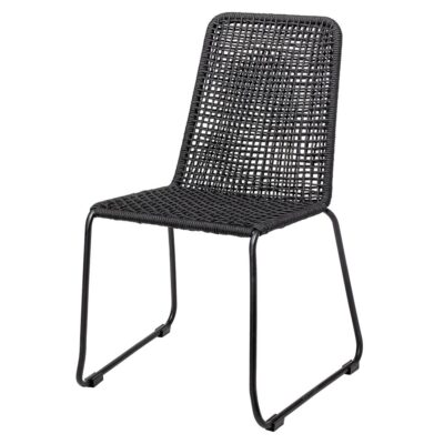 Mundo outdoor dining chair black metal by Bloomingville