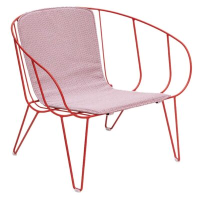 Olivo outdoor Lounge red chair by Isimar
