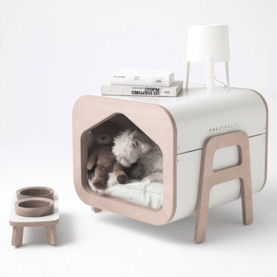 Oslo white dog cat house by Weelywally