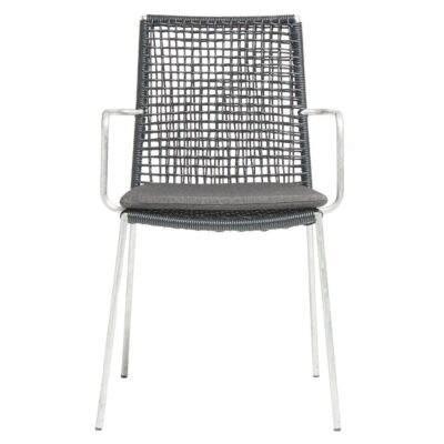 Riva outdoor chair black galvanized by Muubs
