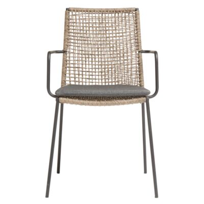 Riva outdoor chair walnut black by muubs