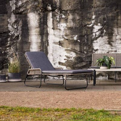 Riva outdoor sunbed by Muubs