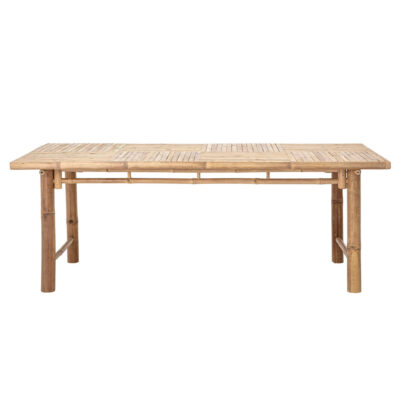 Sole outdoor dining table nature bamboo by Bloomingville