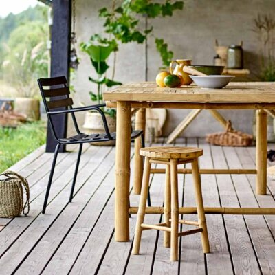Sole outdoor stool nature bamboo by Bloomingville