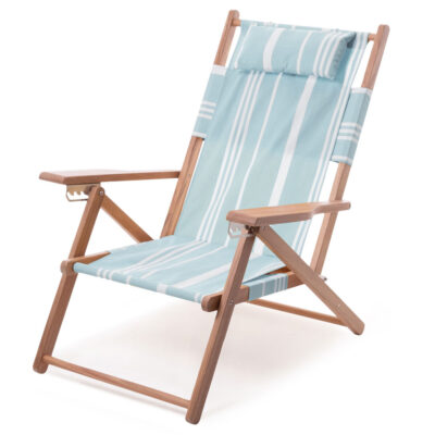Tommy Chair Vintage Blue Stripe by Business & Pleasure