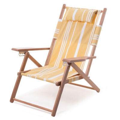 Tommy Chair Vintage Yellow Stripe by Business & Pleasure