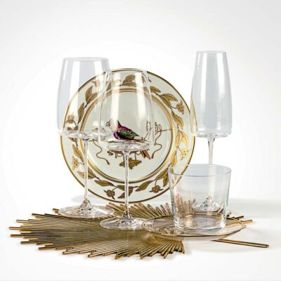 Cortona set of 6 flute clear glass by IVV