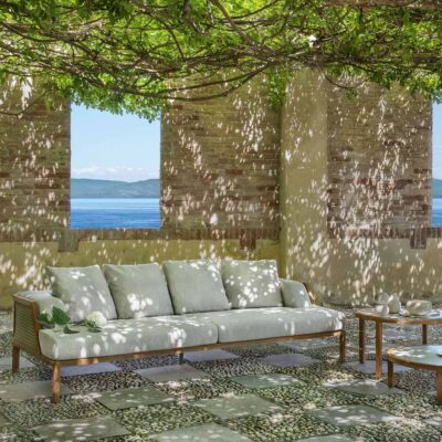 Grand life outdoor sofa by Ethimo