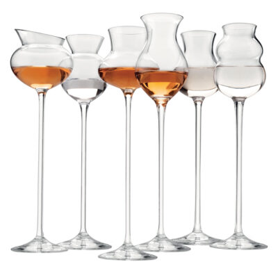 I distillati set of 6 assorted tasting glass clear by IVV
