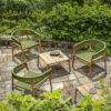 Kilt outdoor coffee table by Ethimo