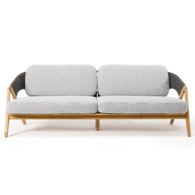 Knit outdoor 3 seater sofa by Ethimo