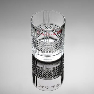 The bartender signature set of 2 tumbler conte camillo rosso by IVV