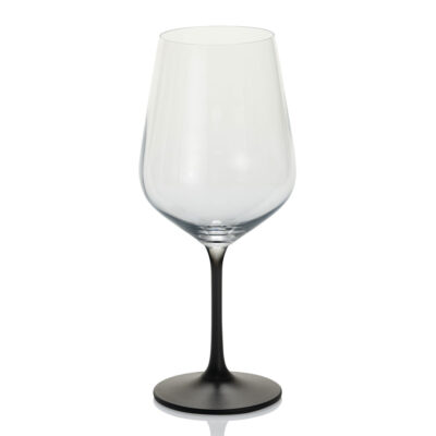 Unforgettable set of 6 red wine glass black decoration by IVV