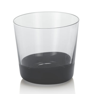 Unforgettable set of 6 water tumbler black decoration by IVV