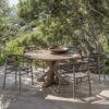 cronos outdoor round table by Ethimo